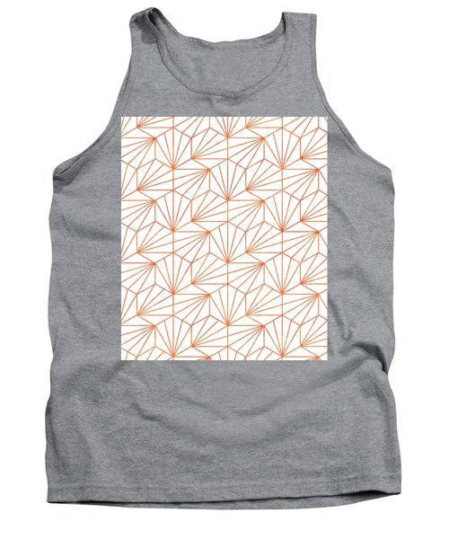 Rose Gold And White Tank Top