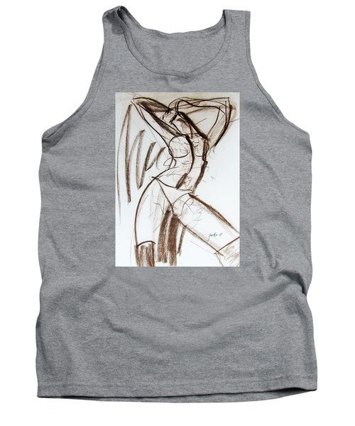 Tank Top featuring the drawing Rough  by Jarko Aka Lui Grande