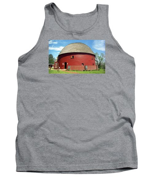Route 66 - Round Barn Tank Top by Frank Romeo
