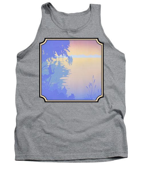 Rowing Back To The Boat Dock At Sunset Abstract Tank Top