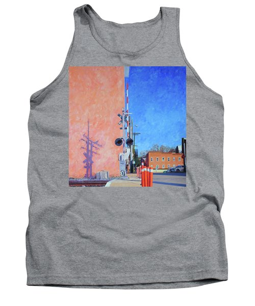 Rr Crossing At The Pink Warehouse Tank Top