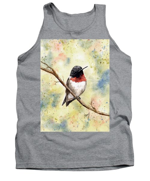 Ruby Throated Hummingbird Tank Top by Sam Sidders
