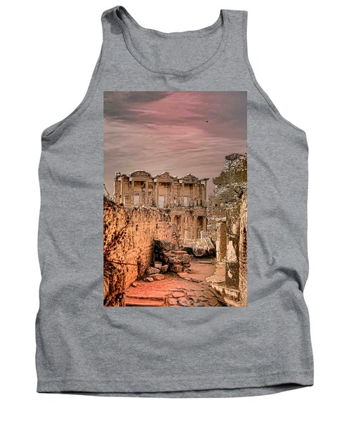 Ruins Of Ephesus Tank Top by Tom Prendergast