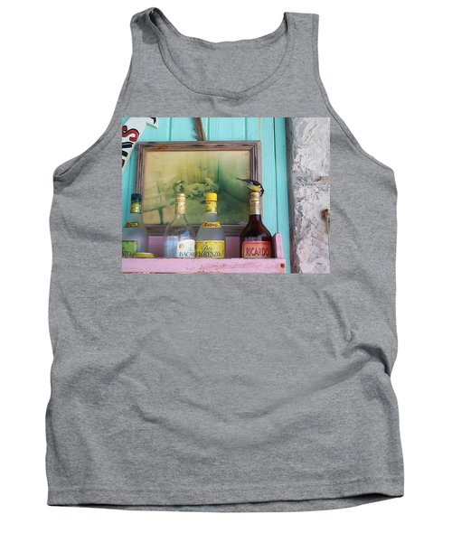 Tank Top featuring the photograph Rum Shack Bananaquit by Mary-Lee Sanders
