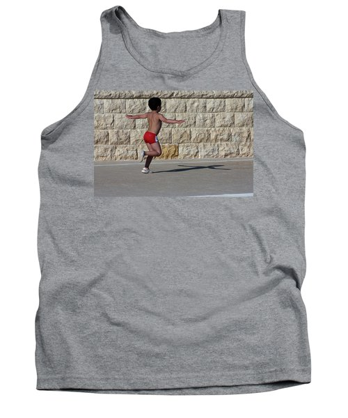 Tank Top featuring the photograph Running Child by Bruno Spagnolo