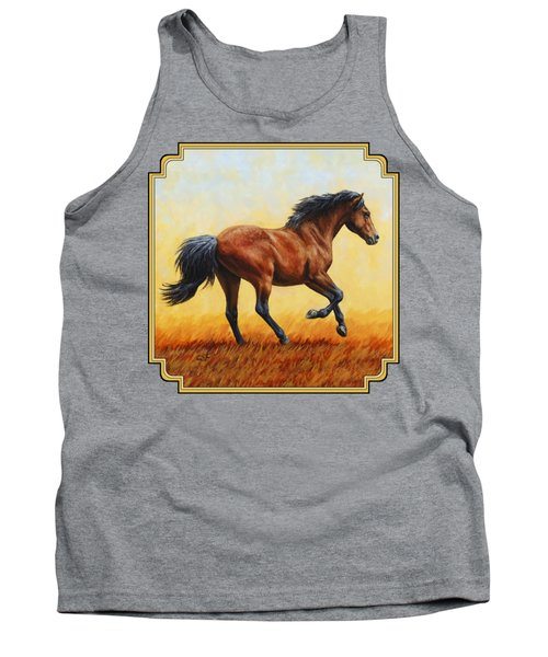 Running Horse - Evening Fire Tank Top by Crista Forest