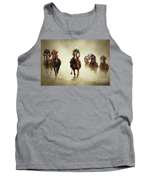 Running Horses In Dust Tank Top