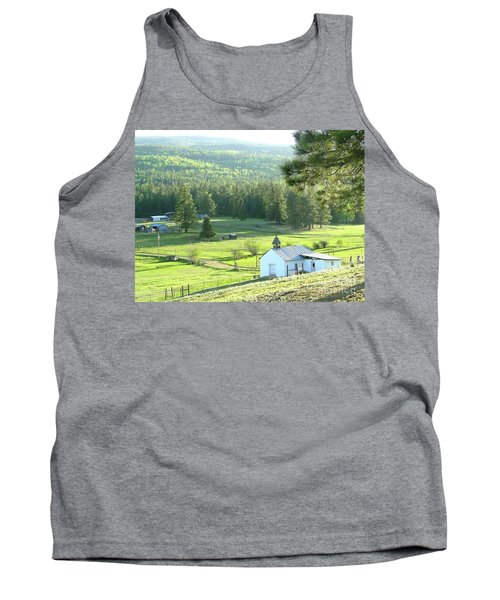 Rural Church In The Valley Tank Top by Cindy Croal