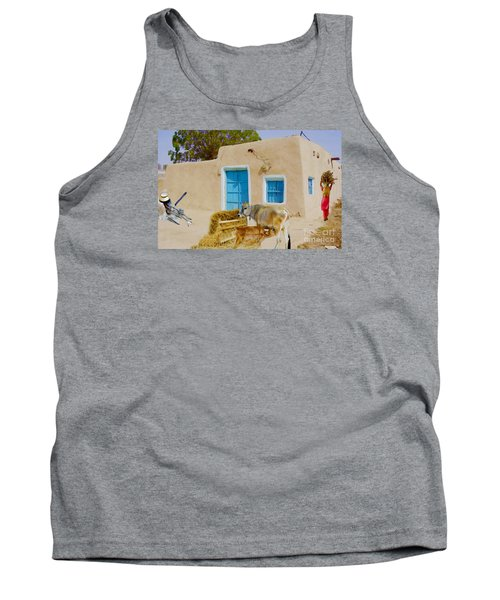 Rural Life  Tank Top by Manjot Singh Sachdeva