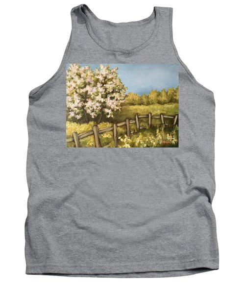 Rural Spring Tank Top by Inese Poga