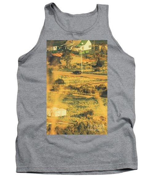 Rural Tasmania Landscape At Summer Tank Top