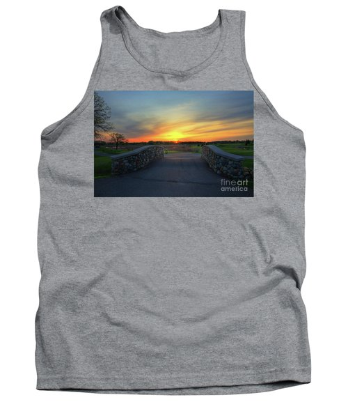 Rush Creek Golf Course The Bridge To Sunset Tank Top