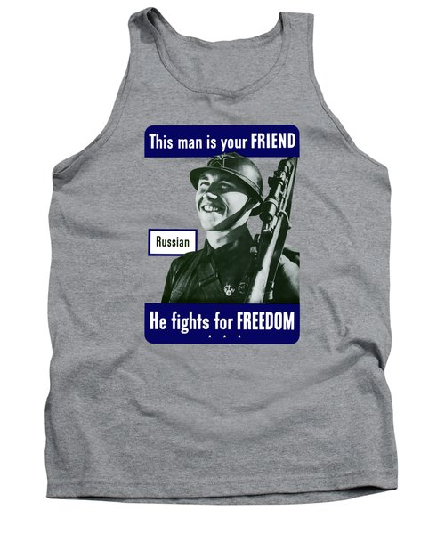Russian - This Man Is Your Friend Tank Top