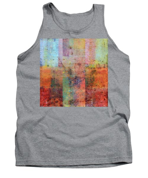 Tank Top featuring the painting Rust Study 1.0 by Michelle Calkins