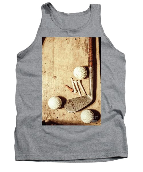 Rustic Golf Club Memorabilia Tank Top