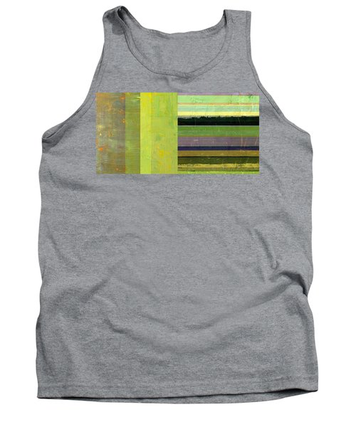 Tank Top featuring the painting Rustic Green Flag With Stripes by Michelle Calkins