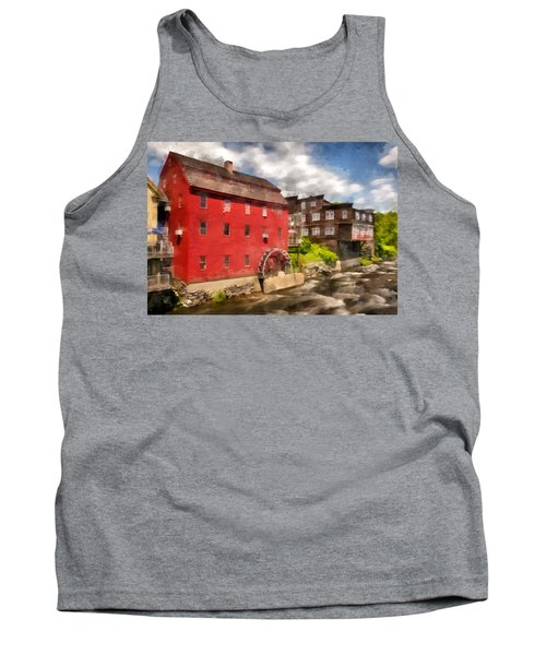 Rustic Historic Grist Mill Littleton, Nh Tank Top by Betty Denise