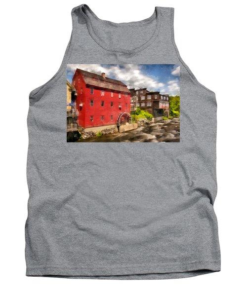 Rustic Historic Grist Mill Littleton, Nh Tank Top