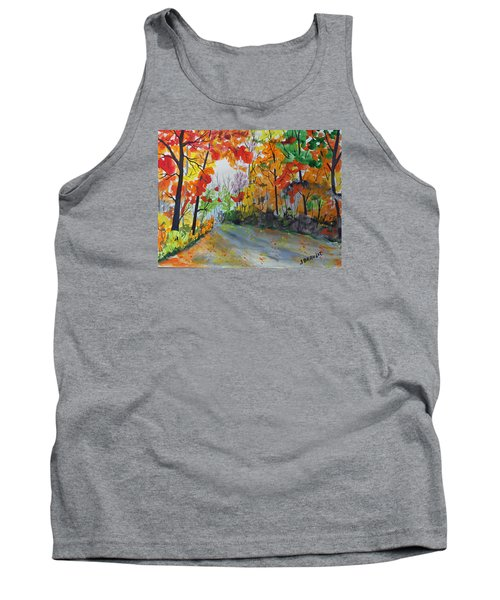 Rustic Road Tank Top by Jack G  Brauer