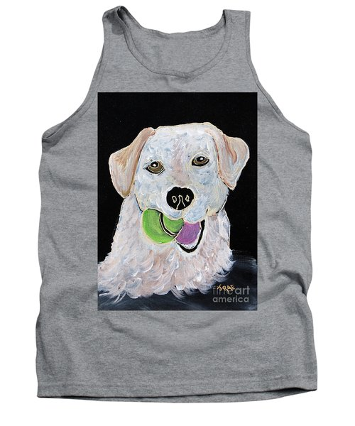 Tank Top featuring the painting Rusty On Canvas by Janice Rae Pariza