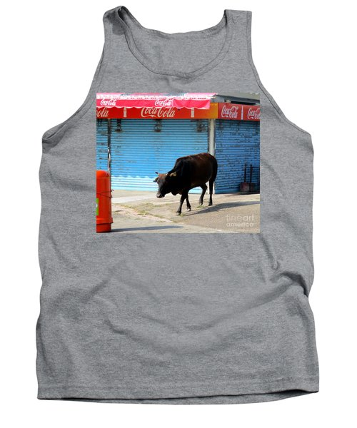 Tank Top featuring the photograph Sacred Cow 1 by Randall Weidner