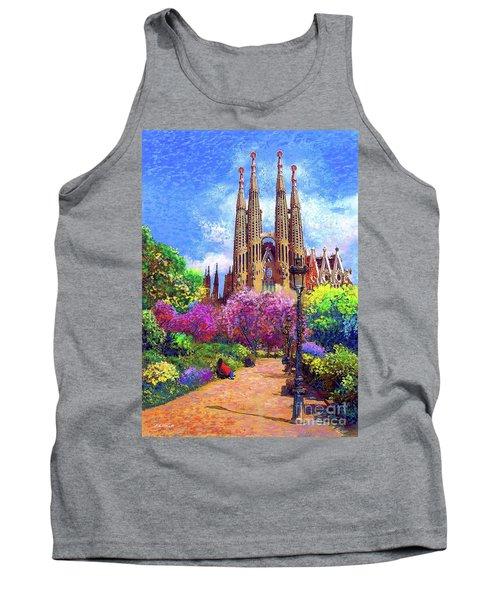 Sagrada Familia And Park Barcelona Tank Top