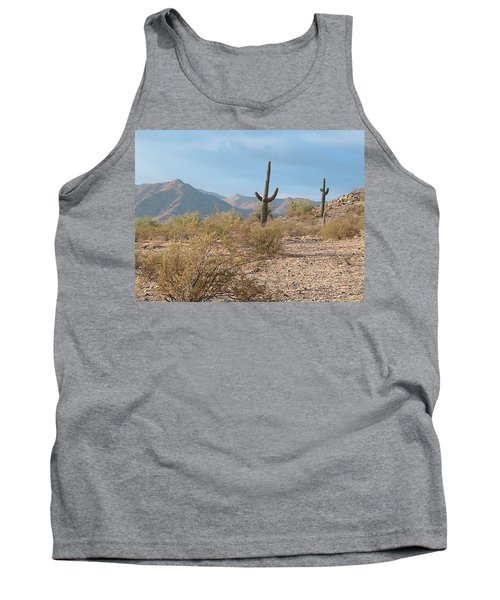 Saguaros On A Hillside Tank Top