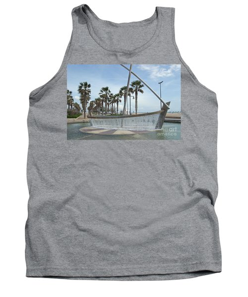 Sail Boat Fountain In Valencia Tank Top