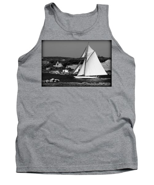 sailboat - a one mast classical vessel sailing in one of the most beautiful harbours Port Mahon Tank Top by Pedro Cardona