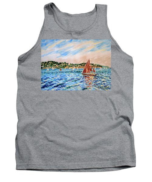 Sailboat On The Bay Tank Top