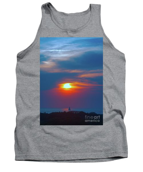 Sailboat Sunset Tank Top by Todd Breitling