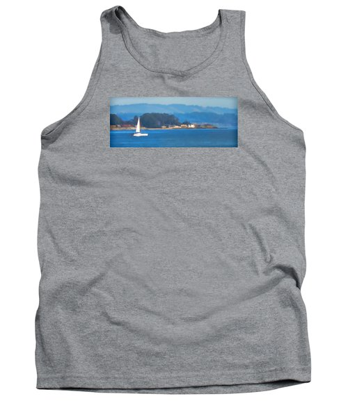 Sailing On The Monterey Bay Tank Top