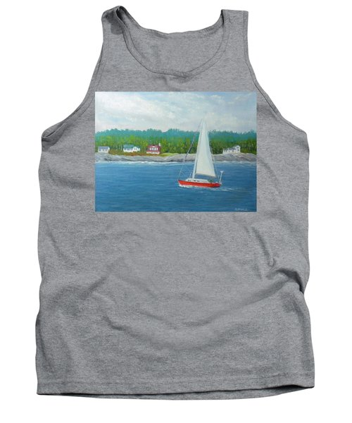 Sailing To New Harbor Tank Top
