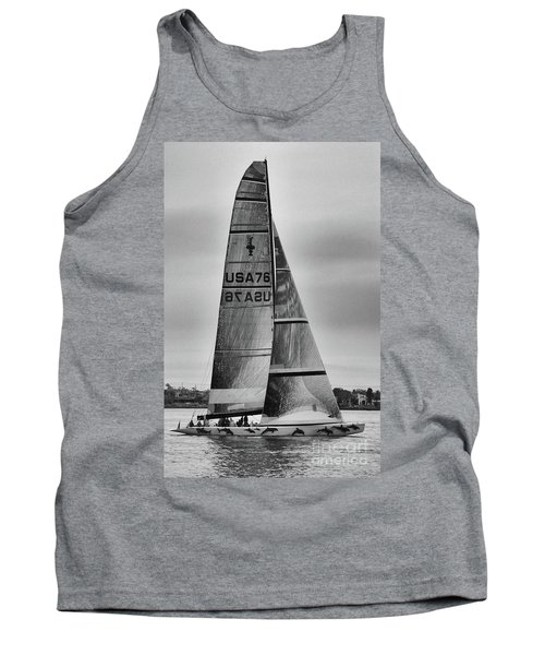Sailing With Dolphins Tank Top by Mariola Bitner