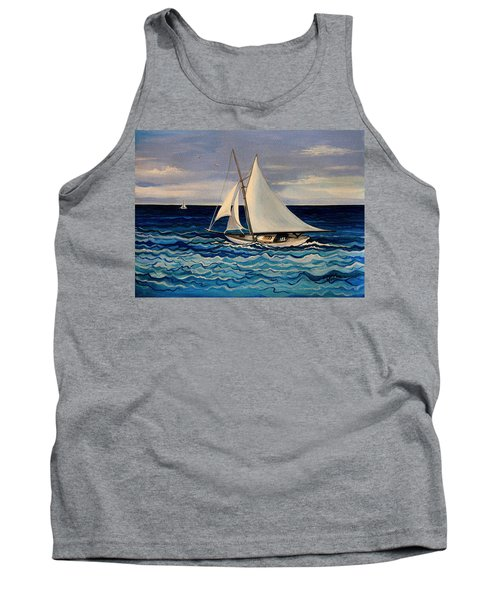 Sailing With The Waves Tank Top