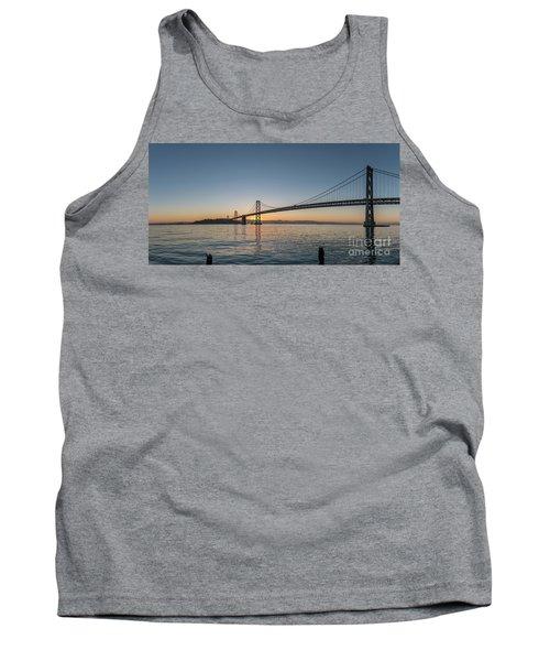 San Francisco Bay Brdige Just Before Sunrise Tank Top