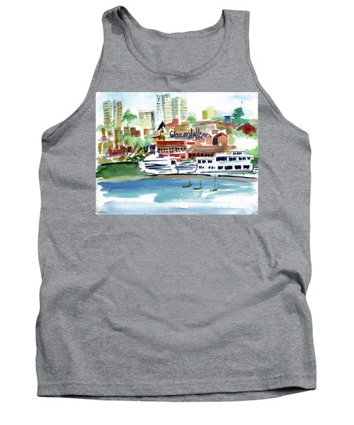San Francisco Cityfront From Aquatic Park Tank Top by Tom Simmons