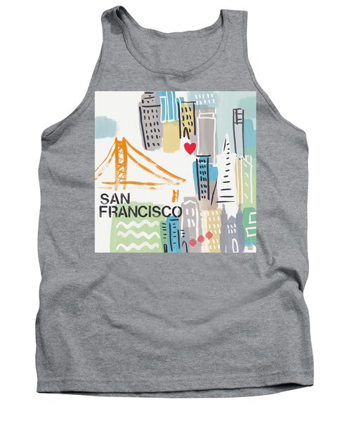 San Francisco Cityscape- Art By Linda Woods Tank Top