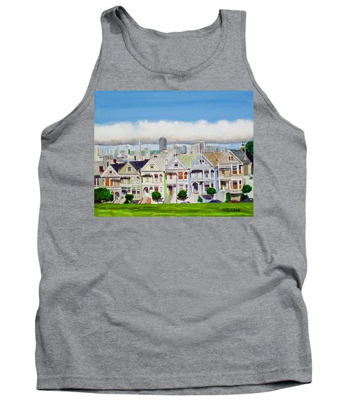 San Francisco's Painted Ladies Tank Top by Mike Robles