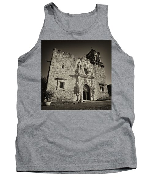 Tank Top featuring the photograph San Jose Mission - San Antonio by Stephen Stookey