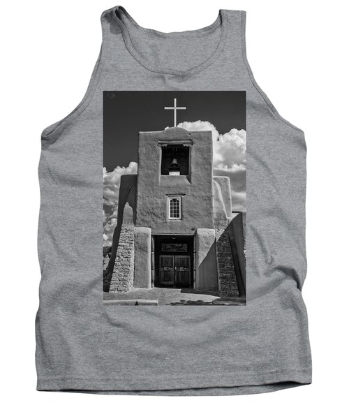 San Miguel Mission Black And White Tank Top