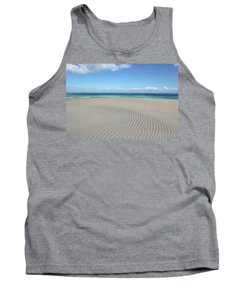 Sand Dune Ripples And The Ocean Beyond Tank Top