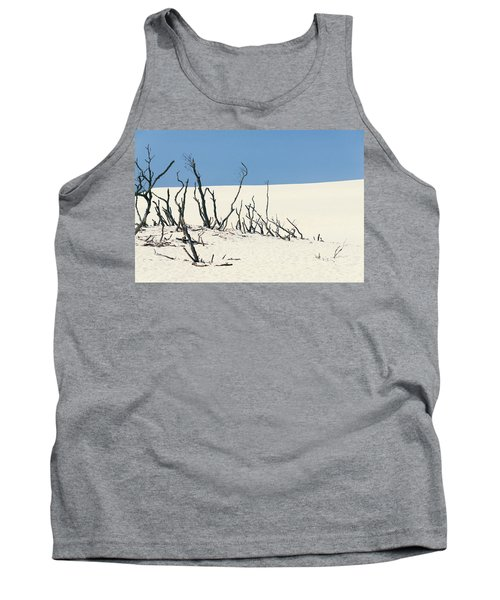 Sand Dune With Dead Trees Tank Top by Chevy Fleet