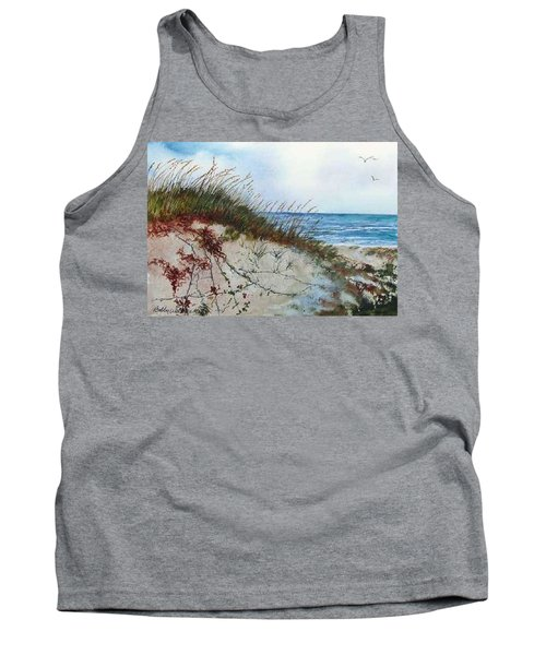 Sand Dunes And Sea Oats Tank Top