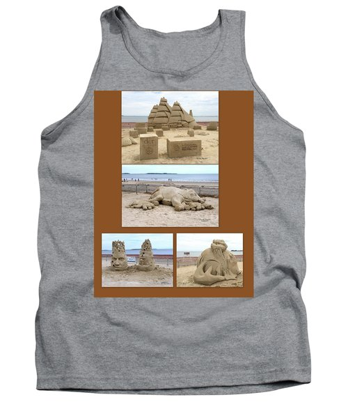 Sand Sculpture Collage Tank Top