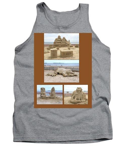 Sand Sculpture Collage Tank Top
