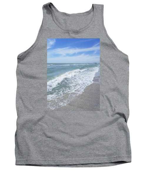 Tank Top featuring the photograph Sand, Sea, Sun, No.2 by Ginny Schmidt