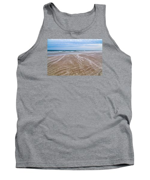 Tank Top featuring the photograph Sand Swirls On The Beach by John M Bailey