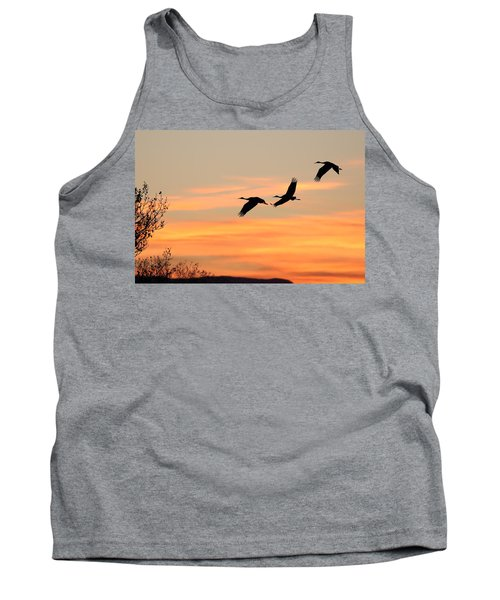 Sandhill Sunrise Three Tank Top