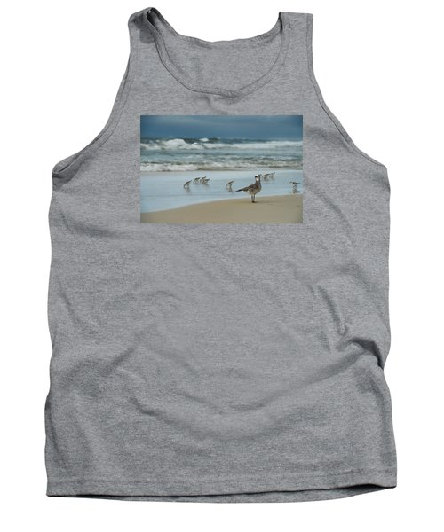 Tank Top featuring the photograph Sandpiper Beach by Renee Hardison